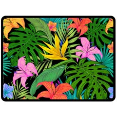 Tropical Adventure Double Sided Fleece Blanket (large)