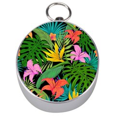 Tropical Adventure Silver Compasses