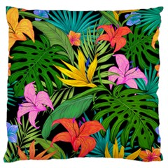 Tropical Adventure Large Flano Cushion Case (two Sides)
