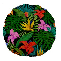 Tropical Adventure Large 18  Premium Flano Round Cushions