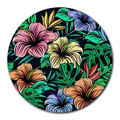 Hibiscus Dream Round Mousepads