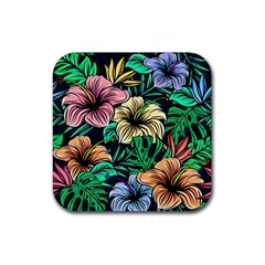 Hibiscus Dream Rubber Square Coaster (4 Pack)