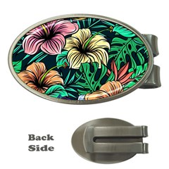 Hibiscus Dream Money Clips (oval)