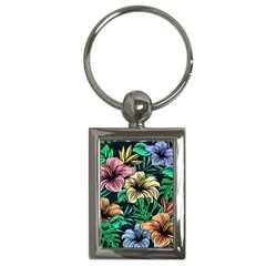 Hibiscus Dream Key Chains (rectangle)