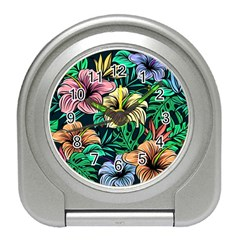 Hibiscus Dream Travel Alarm Clock