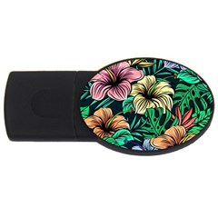 Hibiscus Dream Usb Flash Drive Oval (4 Gb)