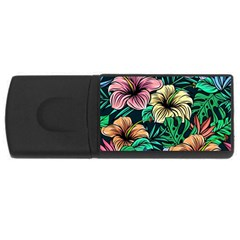 Hibiscus Dream Rectangular Usb Flash Drive