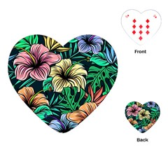 Hibiscus Dream Playing Cards (heart)