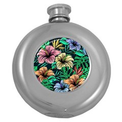 Hibiscus Dream Round Hip Flask (5 Oz)