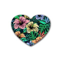 Hibiscus Dream Heart Coaster (4 Pack)