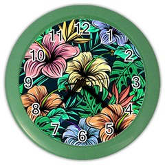 Hibiscus Dream Color Wall Clock