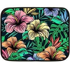 Hibiscus Dream Double Sided Fleece Blanket (mini)