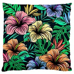Hibiscus Dream Large Cushion Case (one Side)