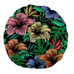 Hibiscus Dream Large 18  Premium Round Cushions