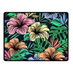 Hibiscus Dream Double Sided Fleece Blanket (small)