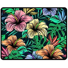 Hibiscus Dream Double Sided Fleece Blanket (medium)