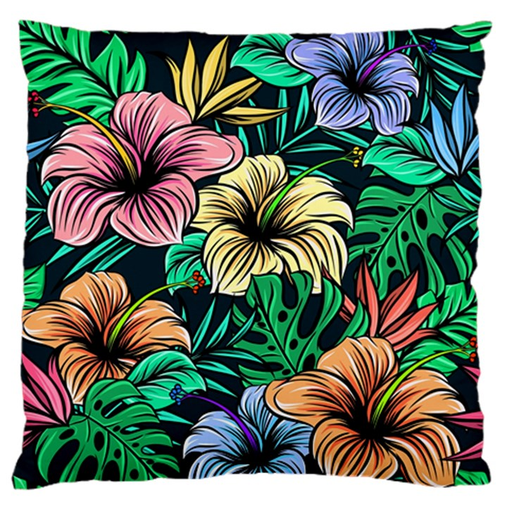 Hibiscus Dream Standard Flano Cushion Case (One Side)