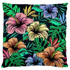 Hibiscus Dream Large Flano Cushion Case (two Sides)
