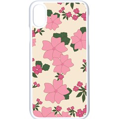 Floral Vintage Flowers Wallpaper Apple Iphone X Seamless Case (white)