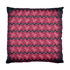 Chevron Wave Standard Cushion Case (one Side) by AnjaniArt