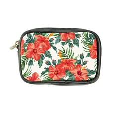 Red Flowers Coin Purse by goljakoff