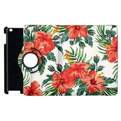 Red Flowers Apple Ipad 2 Flip 360 Case by goljakoff