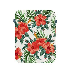 Red Flowers Apple Ipad 2/3/4 Protective Soft Cases by goljakoff