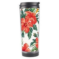 Red Flowers Travel Tumbler by goljakoff