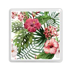 Monstera Flowers Memory Card Reader (square) by goljakoff