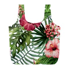 Monstera Flowers Full Print Recycle Bag (l) by goljakoff