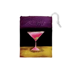 Cosmo Cocktails Drawstring Pouch (small) by StarvingArtisan