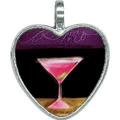 Cosmo Cocktails Heart Necklace