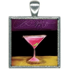 Cosmo Cocktails Square Necklace