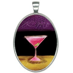 Cosmo Cocktails Oval Necklace
