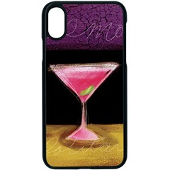Cosmo Cocktails Apple Iphone Xs Seamless Case (black)
