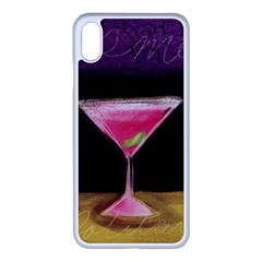 Cosmo Cocktails Apple Iphone Xs Max Seamless Case (white)