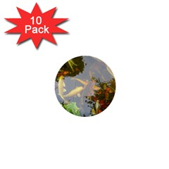 Koi Fish Pond 1  Mini Buttons (10 Pack)
