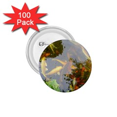 Koi Fish Pond 1 75  Buttons (100 Pack)