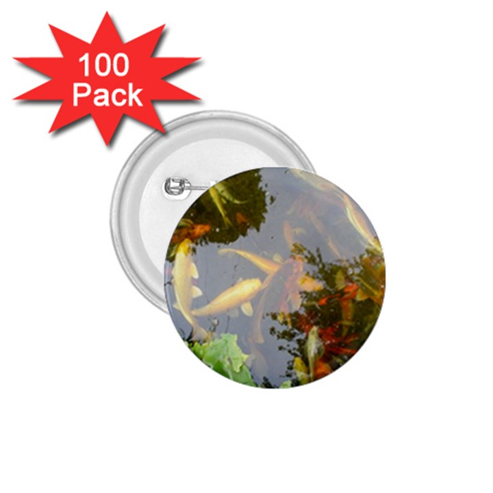 Koi Fish Pond 1.75  Buttons (100 pack)