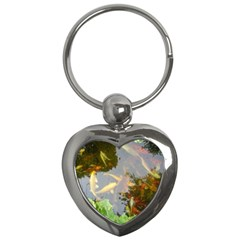 Koi Fish Pond Key Chains (heart)