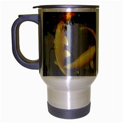 Koi Fish Pond Travel Mug (silver Gray)