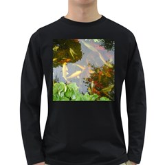Koi Fish Pond Long Sleeve Dark T Shirt