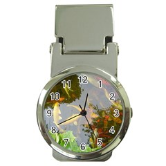 Koi Fish Pond Money Clip Watches
