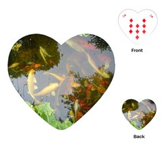 Koi Fish Pond Playing Cards (heart)