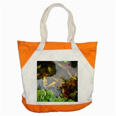 Koi Fish Pond Accent Tote Bag