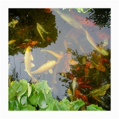 Koi Fish Pond Medium Glasses Cloth