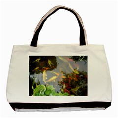 Koi Fish Pond Basic Tote Bag (two Sides)