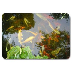 Koi Fish Pond Large Doormat