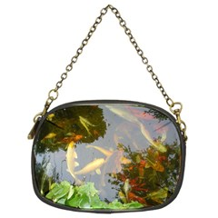 Koi Fish Pond Chain Purse (two Sides)