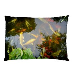 Koi Fish Pond Pillow Case
